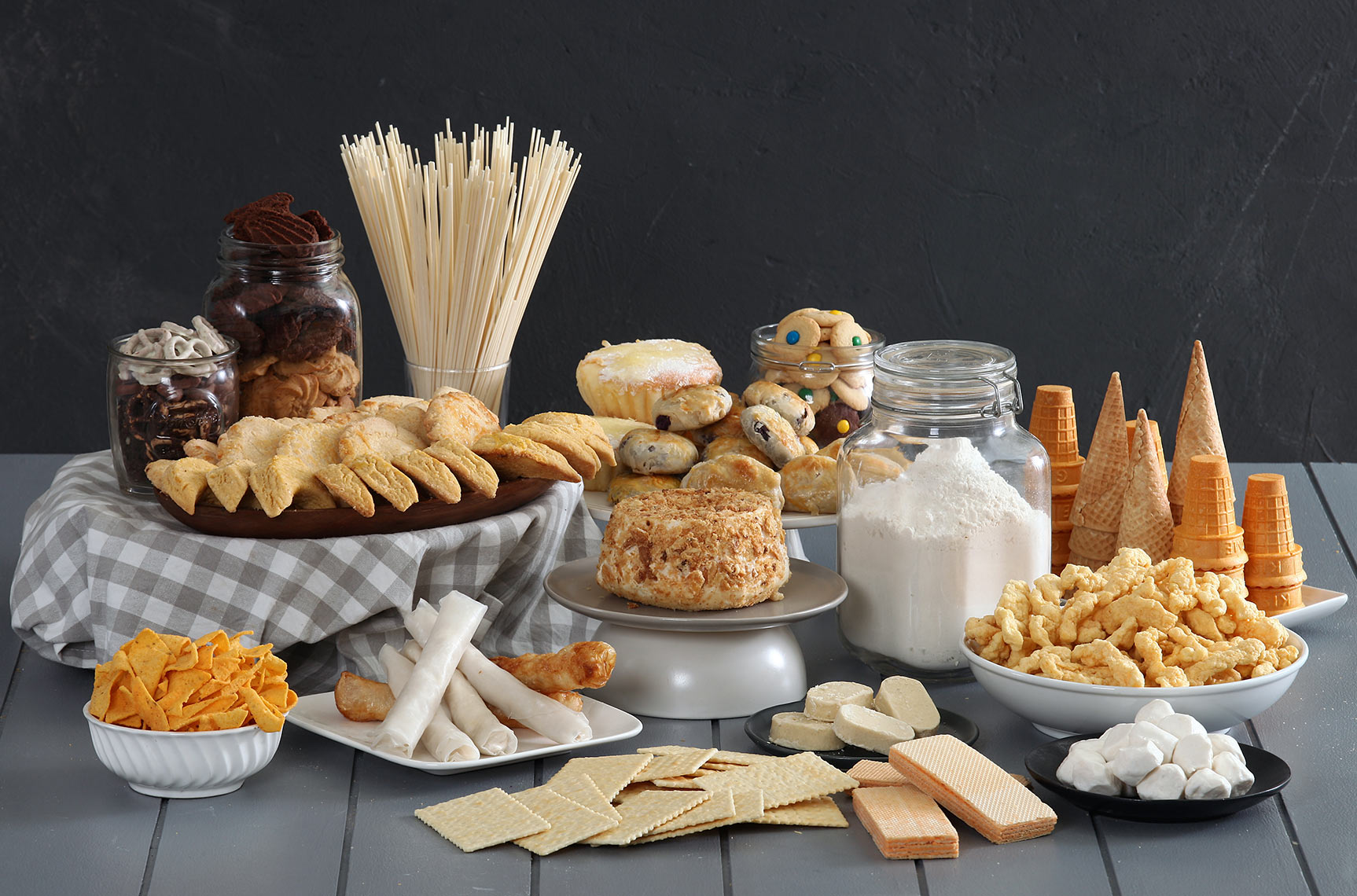 products spread pictorial for flour company
