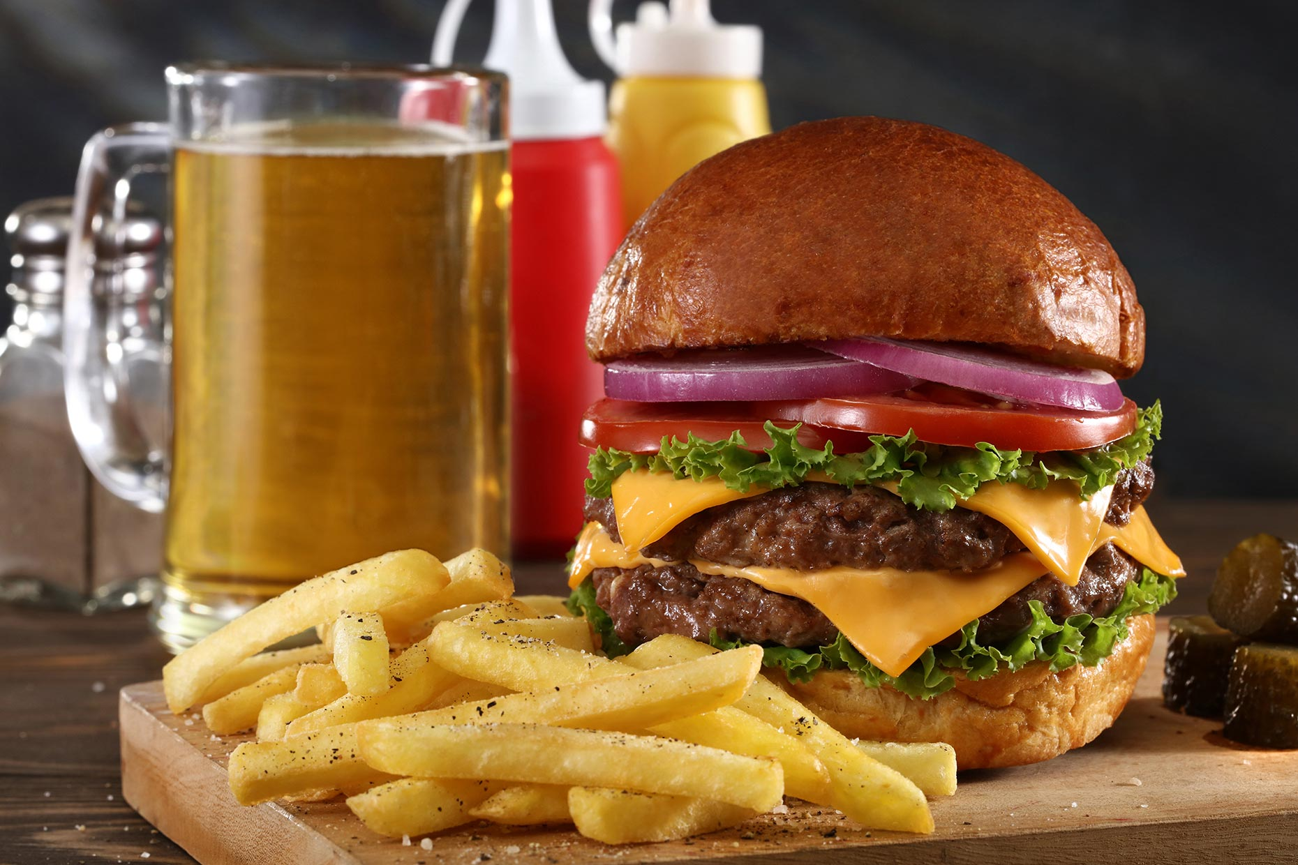 burger and brew - food photography for meat distribution company in Manila
