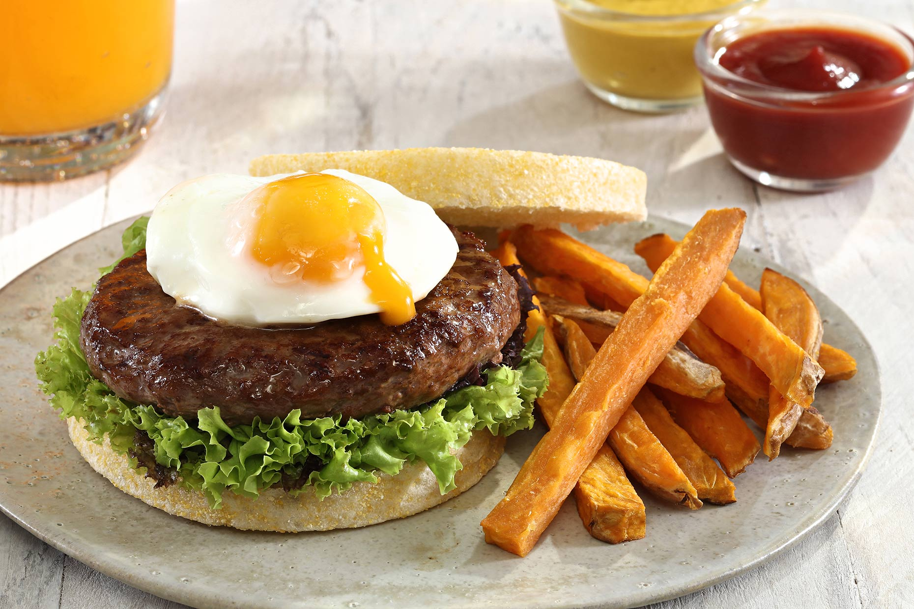 burger-with-sweet-potato-fries