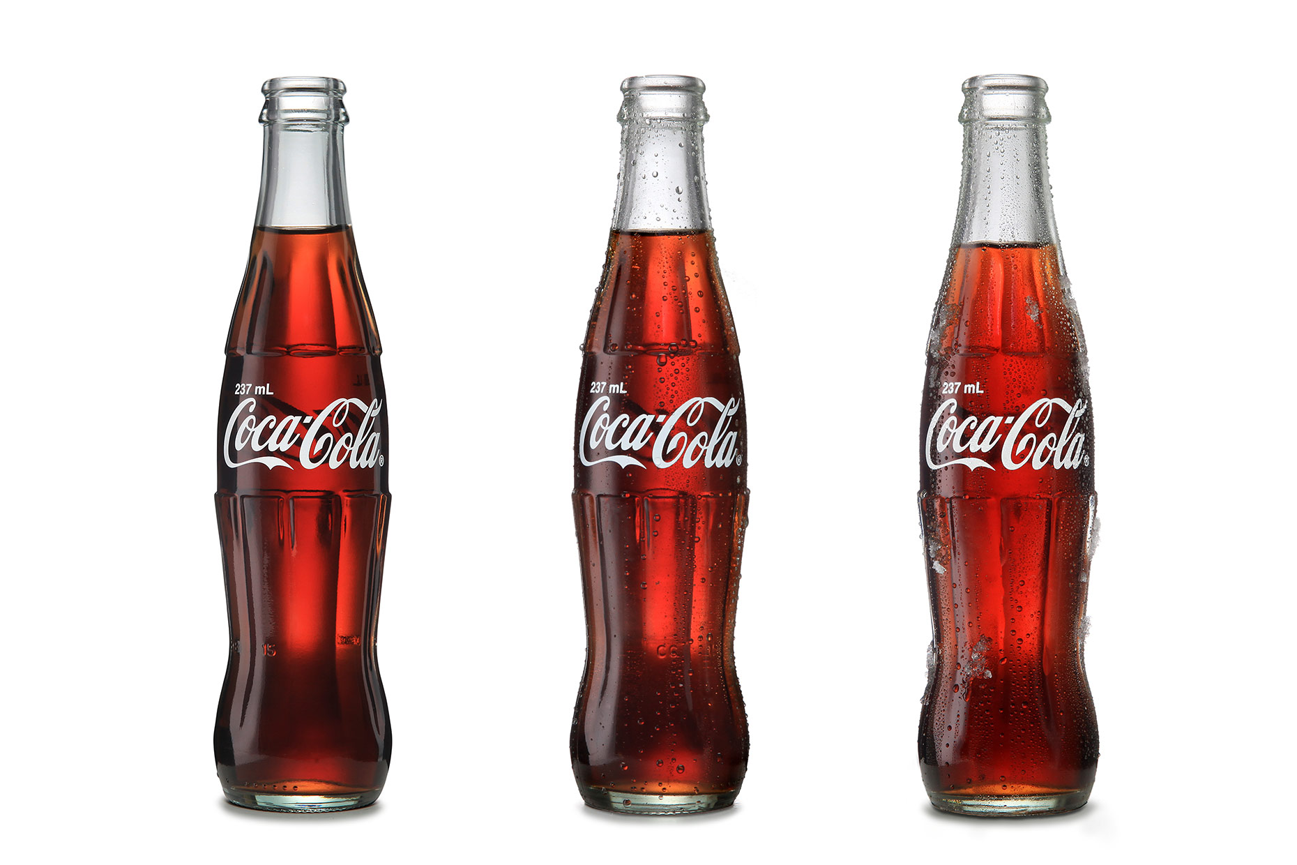 product photography - coca cola bottles