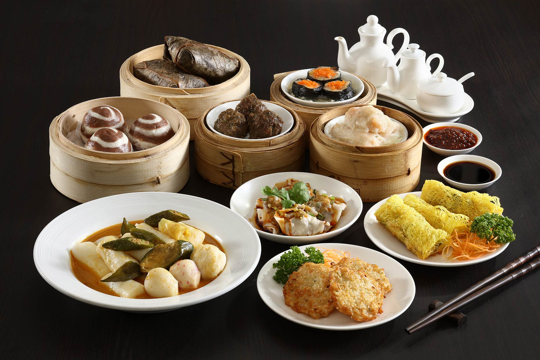 Dimsum feast. Food Photography for Bellevue Hotel. Shot on location in Alabang, Manila.
