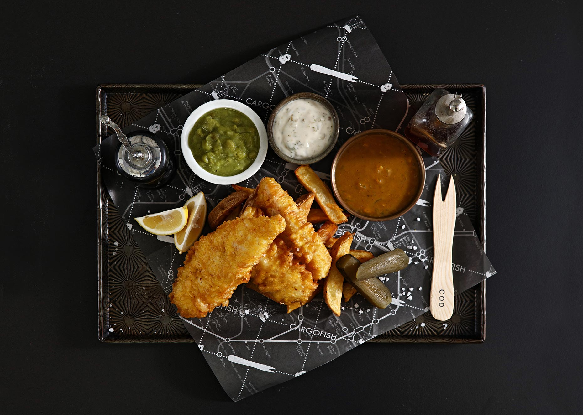 fish and chips tray