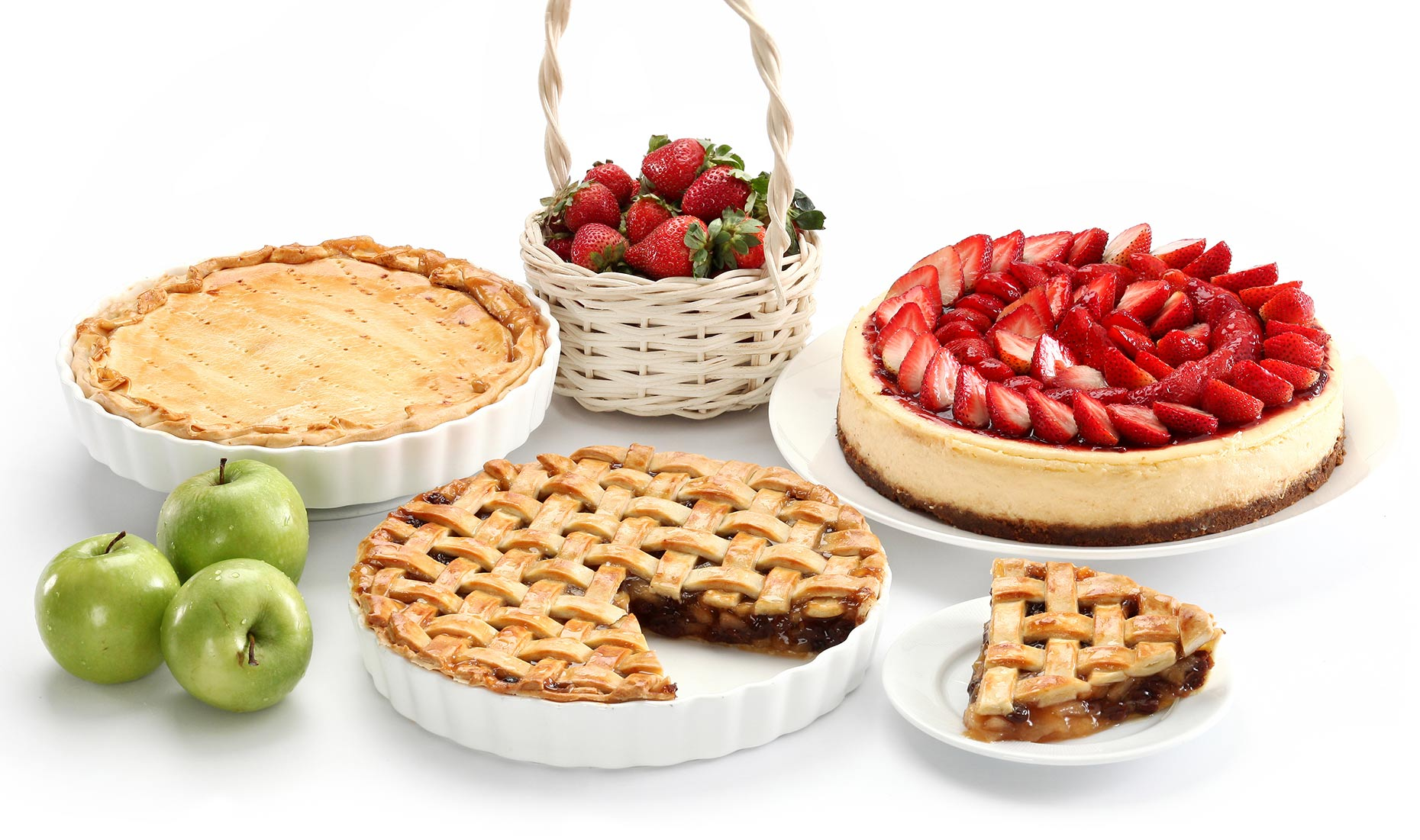 Pies on white background. Food photography and styling for Diamond Hotel , Manila.