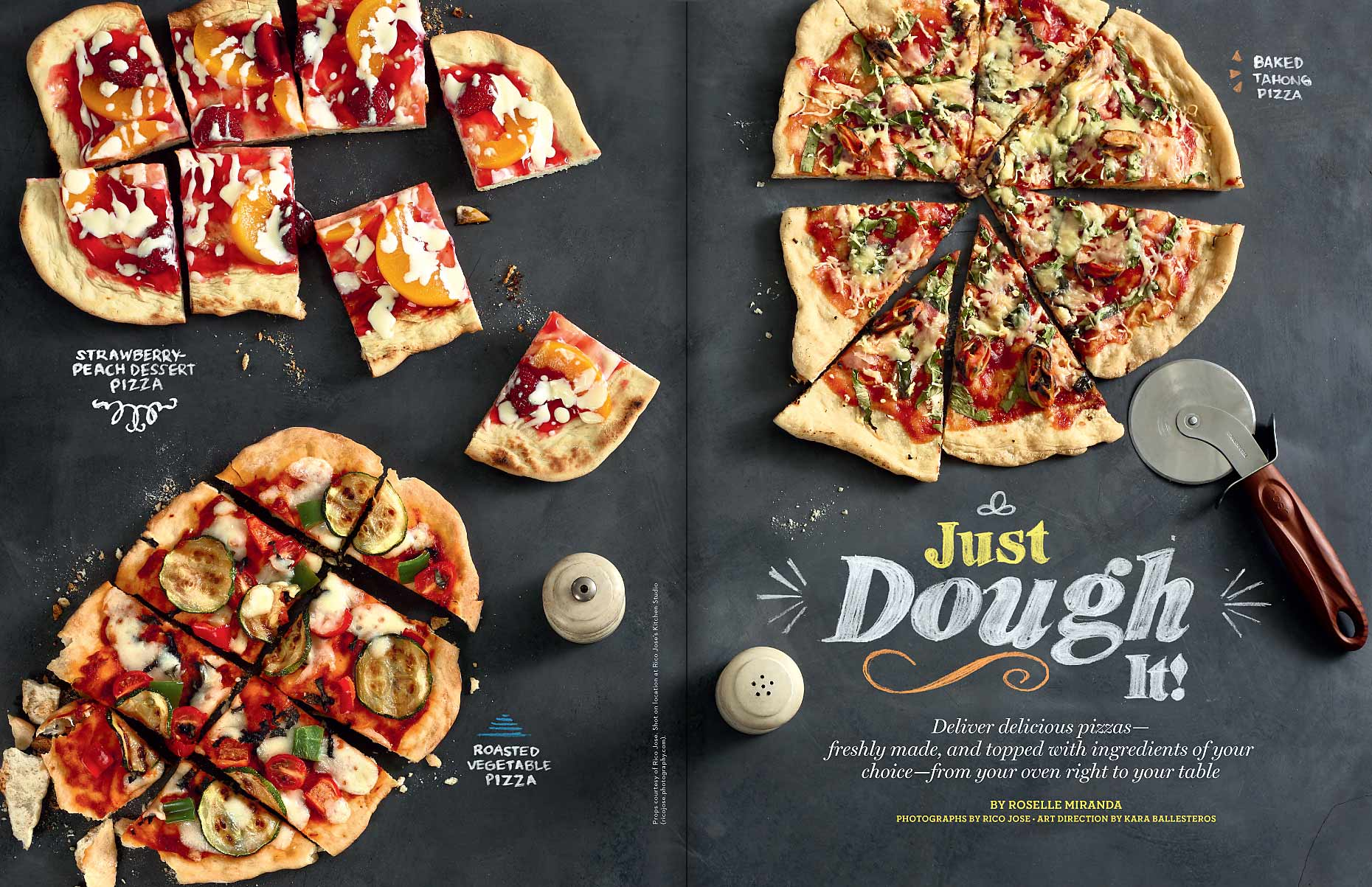 pizza spread layout