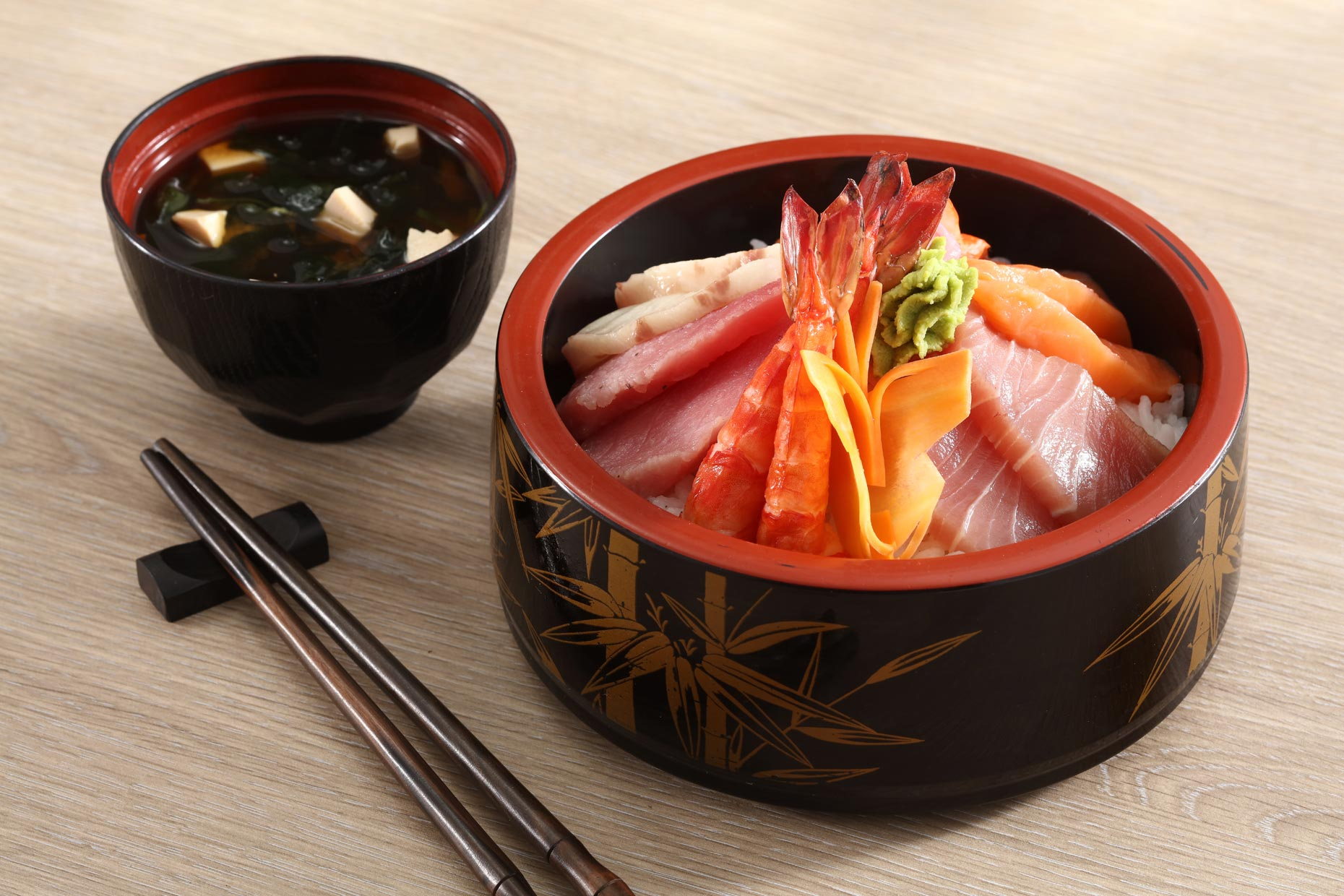 Sushi Bowl. Food photography for Japanese restaurant in Boracay.